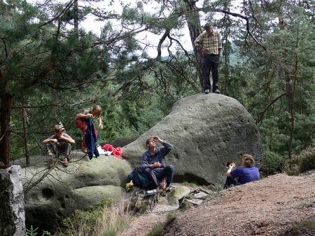 Klettersteig Jonsdorf : Kvl kletterfahrt jonsdorfer hütte uli und kerstin beyer